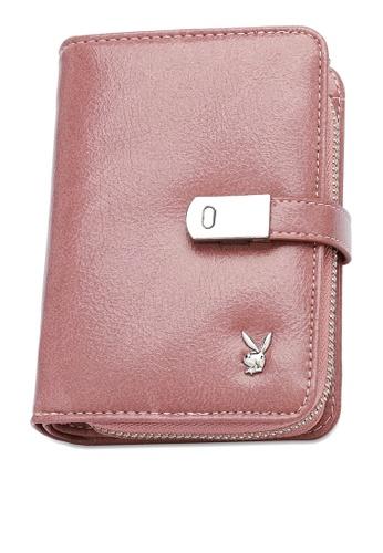 PLAYBOY BUNNY pink Women's Bi Fold Purse / Bi Fold Wallet AAEF9AC81108D9GS_1