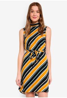 Dorothy Perkins orange Ochre Stripe Tie Shift Dress 24ED4AAD2D1C45GS 1 735276bba