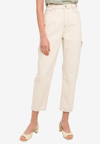 Trendyol white Ecru High Waist Mom Jeans 67151AAF04F743GS_1