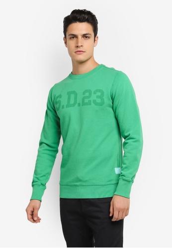 Superdry green Solo Sport Crew Sweatshirt SU137AA0SLNWMY_1