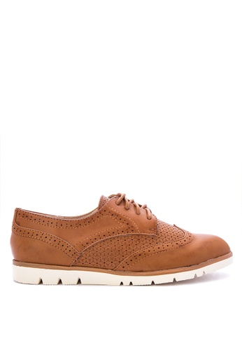 Berca Shoe Store beige Gianna Oxfords BAB28SHF506A69GS_1