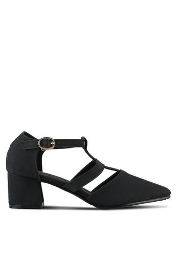 Twenty Eight Shoes black Ankle Strap Mid Heels TW281SH0RLUHMY_1