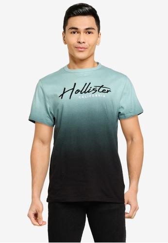 Hollister green Core Tech Ombre Tee 6335BAA6FAA29DGS_1
