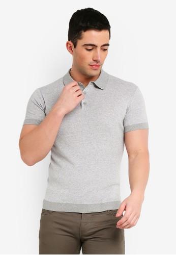 MANGO Man grey Knit Cotton Polo Shirt 3EFF0AA3AFD8B4GS_1