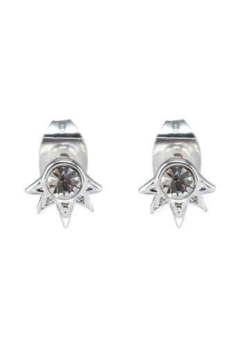 Pieces 銀色 鑽飾鉚釘耳環 04B85AC9D2290EGS_1