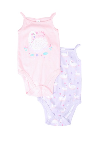 LC Waikiki purple 2-pack Baby Girl's Cotton Bodysuit F1319KA13CD80DGS_1