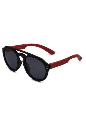 jojo black Retro Aviator Polarized Sunglasses 6607EKC660FAC7GS_1