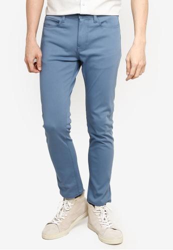 GLOBAL WORK blue Slim Fit Pants 39422AA1C6F8E3GS_1