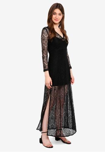 Something Borrowed black 2 in 1 Lace Maxi Dress 87AA9AA19EC44EGS_1