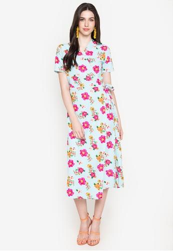Deity blue Kimono Wrap Maxi Dress B868AAA580B133GS_1