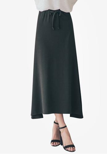 Tokichoi black Flared Plain Maxi Skirts 5D893AA00AC649GS_1