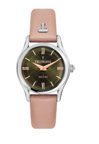 Trussardi pink T-Light Quartz Watch R2451127504 Pink Leather Strap F7E51AC872BA34GS_1
