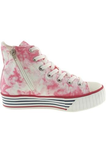 Maxstar pink and multi Maxstar Women's C30 7 Holes Zipper Canvas High Top Platform Sneakers US Women Size MA164SH41POWSG_1
