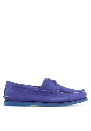 Timberland blue Classic Boat 2 Eye Boat Shoes TI063SH0SB9FMY_1