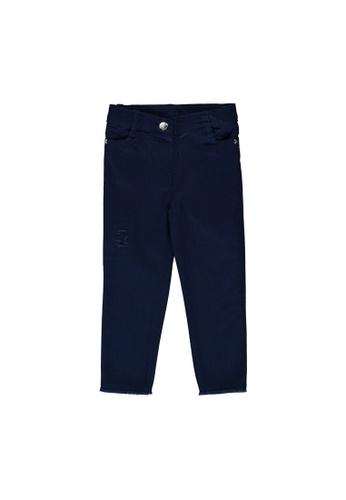 LC Waikiki blue Baby Girl's Gabardine Trousers 5A877KA04BBD60GS_1