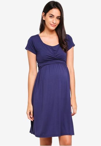 JoJo Maman Bébé navy Maternity Tie Dress 69457AA6B881C7GS_1