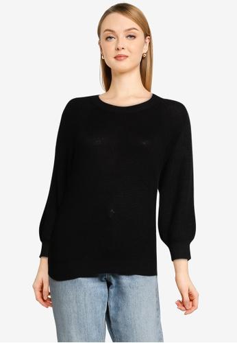 Vero Moda black Newlex Sun Knit Top 47213AAEA36328GS_1