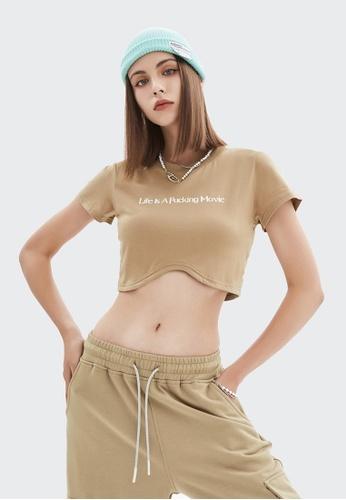 Twenty Eight Shoes Cropped Printed Short Sleeve T-shirt 6033GS21 6B0E9AAAC7B6ADGS_1