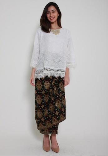 Naphthys Collection black and multi and gold Batik Skirt/Sarong/Songket B25CBAACCAAE62GS_1