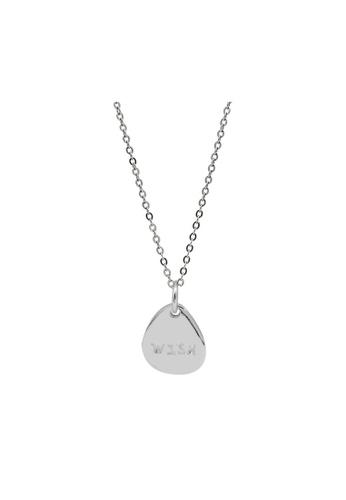 LYCKA silver LDR1329 S925 Silver Make-a-Wish Necklace 6A1FEACA066E2FGS_1