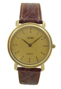 Image of ALBA Jam Tangan Pria - Brown Gold - Leather Strap - ATA24J