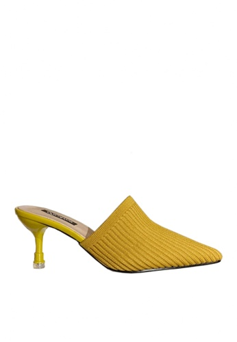 Twenty Eight Shoes yellow Knitted Fabric Mid Heels VL668 54E5BSHF39234AGS_1