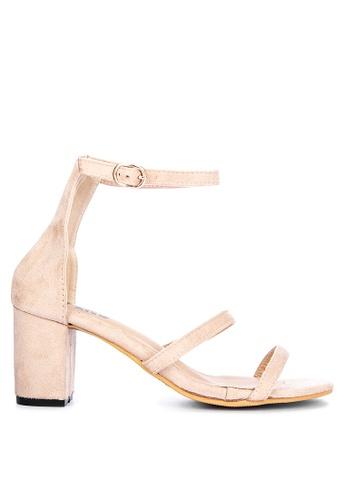 LND beige Liza Block Heels Sandals 0D809SH20F0417GS_1