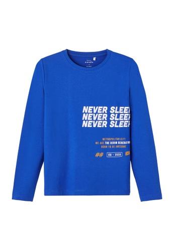 NAME IT blue Vux Long Sleeves Tee C8DC9KAA370232GS_1