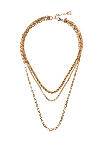 Mango gold Mixed Chain Necklace B24F7AC76A2AAAGS_1