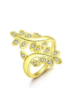 18k Gold Plated Nature Lover Ring Size 8