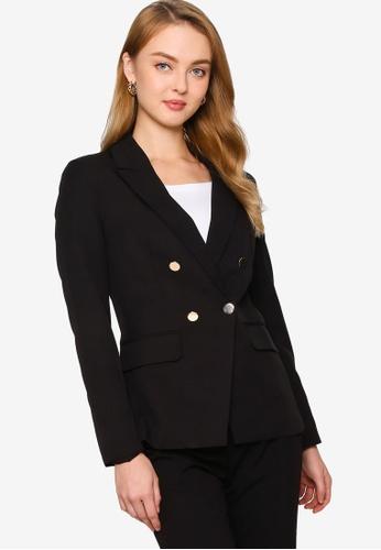ZALORA WORK black Military Button Blazer BD4ECAA4C7EC97GS_1