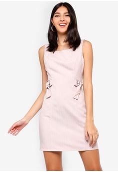 ZALORA pink Buckle Detail Sheath Dress FA085AAC60B962GS 1 595ef07e40