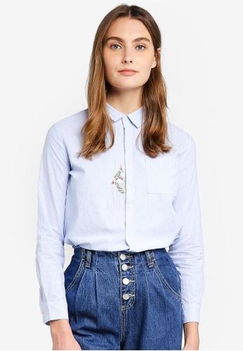 6IXTY8IGHT white Cat Placket Oversized Shirt Dress 90FD9AA65B6E89GS_1