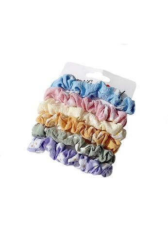 Glamorbit multi Satin Silky Hair Scrunchies Set A1859AC4277CDCGS_1