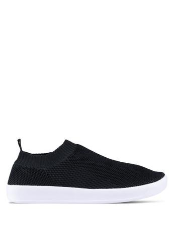 North Star black North Star Slip On Sock Sneakers 0AFF2SH03F6D93GS_1