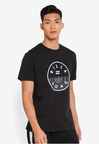 Billabong 黑色 休閒品牌印花T恤 EFE5AAAFAF2238GS_1