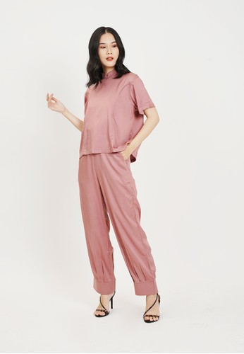 Monomom pink Baju Menyusui Rose Pants Top Set MONOMOM AE0D3AA3CBF726GS_1