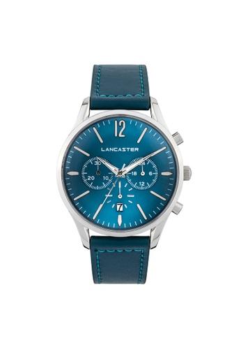 Lancaster Paris blue and silver Heritage Chronograph LA452AC0GJD5SG_1