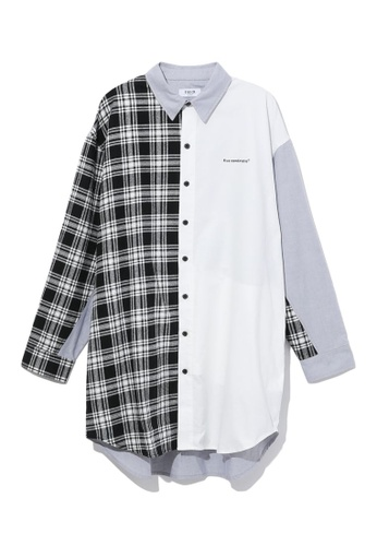 Fivecm black Panel shirt dress 75728AA2925CFEGS_1