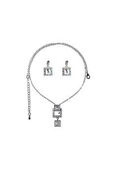 Paris Bijoux ST13416A Set Necklace + Earring - Crystal