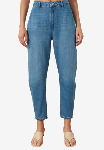 Trendyol blue High Waist Balloon Jeans BC970AA5C10657GS_1
