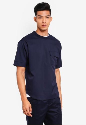 AT TWENTY navy Oversized Pocket Pullover Top CF4DAAAAF45659GS_1