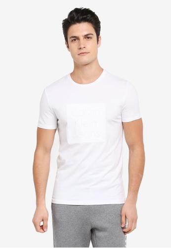 Calvin Klein white Box Logo Crew Neck Short Sleeve T-Shirt - Calvin Klein Jeans 3EEE4AA41FDEA6GS_1
