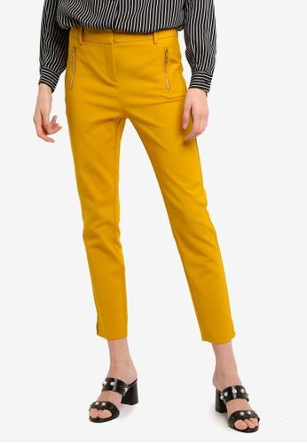 LC Waikiki yellow Ankle Length Trousers 74A3FAA188713FGS_1