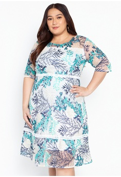 a77c6739d5 Get Laud Plus green Brynlee Mini Plus Size Dress 12D3AAAE74D735GS 1