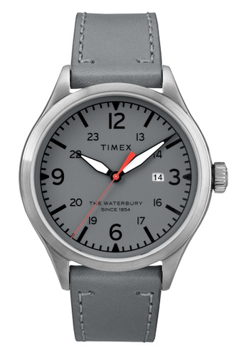 TIMEX grey and silver Timex Men's Watch TW2R71000 Style Originals Waterbury  16B19ACF29E940GS_1