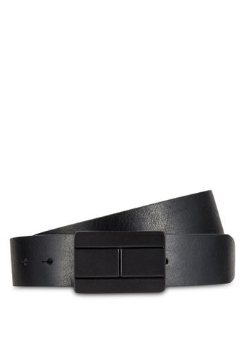Tommy Hilfiger black TH FLAG PLAQUE BELT 3.5 TO861AC0RR17MY_1