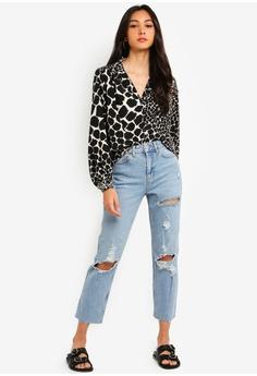 a49c4c801f8 TOPSHOP Bleach Destroy Rip Straight Jeans RM 269.00. Sizes 25R 26R 28R 30R  32R