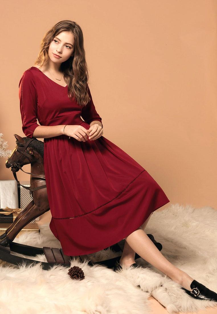 Red Kodz Kodz Line A A Dress Dress Red A Line Line Dress 7nqadwx