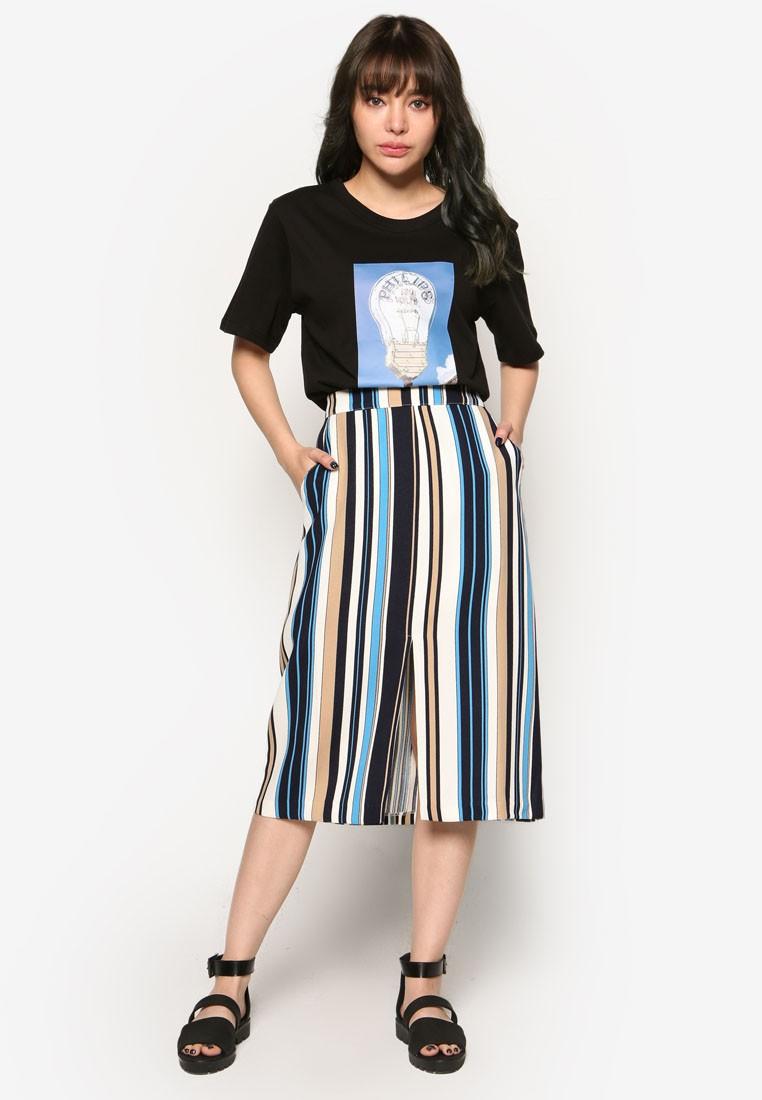 Korean Style Multi Stripe Skirt